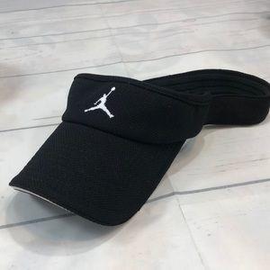 USED Air Jordan Black Visor One Size